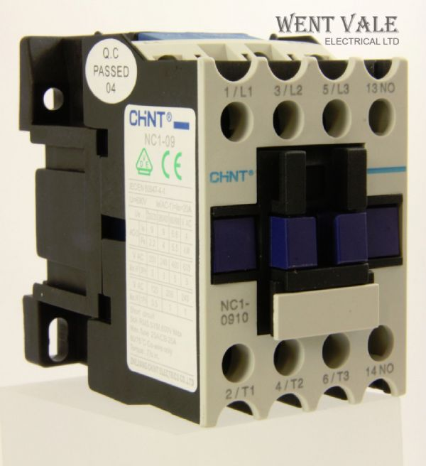 Chint NC1-0910 - Three Pole 20a NO AC Contactor 24v B7 Coil Un-used in Box
